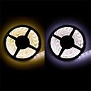 halpa LED-hehkulamput-5m Joustavat LED-valonauhat 300 LEDit Lämmin valkoinen / Valkoinen Leikattava / Vedenkestävä / Yhdistettävä 12 V / 3528 SMD / IP65 / Itsekiinnittyvä