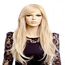 cheap Synthetic Capless Wigs-Synthetic Wig Wavy With Bangs Synthetic Hair Middle Part Blonde Wig Women's Long Capless