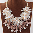 cheap Necklaces-Women's Bib Statement Necklace - Flower, Candy Statement, European, Fashion Blue, Pink, Rainbow Necklace For