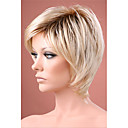 cheap Synthetic Wigs-Synthetic Wig Straight Bob Haircut / With Bangs Synthetic Hair Ombre Hair / Dark Roots / Natural Hairline Wig Women's Short Capless
