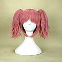 billige Kostymeparykk-Syntetiske parykker Rett Syntetisk hår Parykk Lokkløs Rød Rosa hairjoy