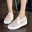 baratos Mocassins Femininos-Mulheres Sapatos Courino Primavera / Verão / Outono Plataforma Combinação Branco / Preto / Rosa claro
