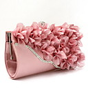 cheap Earrings-Women's Bags Chiffon Evening Bag Flower Silver / Fuchsia / Pink