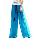 זול נעליים לטיניות-בגדי ריקוד נשים בוהו משוחרר רגל רחבה מכנסיים אחיד / ליציאה