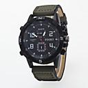 preiswerte Militäruhr-Herrn Armbanduhr Quartz Armbanduhren für den Alltag / PU Band Analog Freizeit Schwarz / Blau / Braun - Blau Jägergrün Khaki