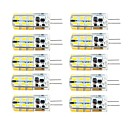 abordables Luces LED de 2 Pin-brelong 10 pcs g4 regulable 2.5w 24led smd2835 maíz blanco claro / blanco cálido / ac12v / dc12v / ac220v
