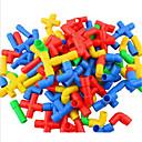 זול Building Blocks-צבעים ממוינים פלסטיק אבני בניין צעצועי DIY