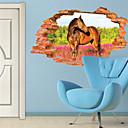 billige Syntetiske parykker-Dyr 3D Botanisk Veggklistremerker 3D Mur Klistremerker Dekorative Mur Klistermærker, Vinyl Hjem Dekor Veggoverføringsbilde Vegg