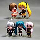 baratos Personagens de Anime-Figuras de Ação Anime Inspirado por Fantasias Hatsune Miku PVC 5 cm CM modelo Brinquedos Boneca de Brinquedo