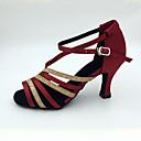abordables Zapatos de Baile Latino-Mujer Salón Satén Sandalia / Tacones Alto Tacón Stiletto Personalizables Zapatos de baile Blanco / Almendra / Fucsia / Interior / Rendimiento / Cuero / Entrenamiento / Profesional