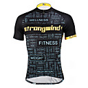 cheap Earrings-ILPALADINO Men's Short Sleeve Cycling Jersey - Black / Yellow / Black with White Bike Jersey, Quick Dry, Ultraviolet Resistant, Breathable