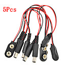cheap Dog Collars, Harnesses & Leashes-5 Pcs Experimental 9V Battery Snap Power Cable Adapter for Arduino Raspberry Pi