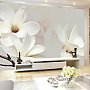 tanie Fresk-Kwiaty Art Deco 3D Dekoracja domowa Współczesny Tapetowanie, Brezentowy Materiał klej wymagane Fresk, Pokój tapet