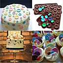 billige Bageredskaber-Bageværktøj Silikone Fødselsdag Kage / Småkage / Chokolade Dekorationsværktøj 1pc