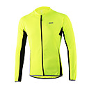 cheap Cycling Jerseys-Arsuxeo Men's Long Sleeve Cycling Jersey Light Yellow Dark Grey Light Blue Solid Color Bike Jersey Top Breathable Quick Dry Anatomic Design Sports Polyester 100% Polyester Mountain Bike MTB Road Bike