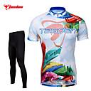 זול Fashion Ring-TASDAN בגדי ריקוד גברים שרוולים קצרים חולצה וטייץ לרכיבה - שחור אופניים טייץ רכיבה על אופניים ג'רזי מכנסיים מדים בסטים, 3D לוח, ייבוש
