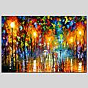 billige Oliemalerier-Hang-Painted Oliemaleri Hånd malede - Landskab Moderne / Europæisk Stil Omfatter indre ramme / Stretched Canvas