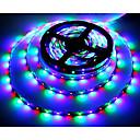 billige LED Lyskæder-5 m RGB-Lysstriber 300 lysdioder 3528 SMD RGB Fjernbetjening / Chippable / Selvklæbende 12 V / Farveskiftende