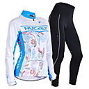 cheap Pedals-Nuckily Men's Women's Long Sleeves Cycling Jersey with Tights - Blue Floral / Botanical Geometic Bike Clothing Suits, Thermal / Warm,