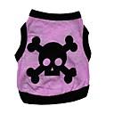 halpa Koiran vaatteet-Kissa Koira T-paita Koiran vaatteet Pääkallot Harmaa Purppura Kahvi Vihreä Puuvilla Asu Lemmikit Miesten Naisten Rento/arki Halloween