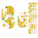 billige Heldækkende negleklistermærker-1 pcs 3D Negle Stickers Negle kunst Manicure Pedicure Smuk Blomst / Tegneserie / Mode Daglig / 3D Nail Stickers