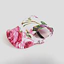 billige Hundeklær-Kat Hund Hodetørklær og hatter Hundeklær Blomsternål i krystall Rosa Nylon Kostume For kjæledyr Dame Ferie