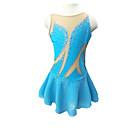 baratos Acessórios para PS4-Vestidos para Patinação Artística Mulheres / Para Meninas Patinação no Gelo Vestidos Azul Claro Pedrarias Roupas para Lazer / Espetáculo