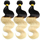 billige Hairextension med naturlig farge-3 pakker Brasiliansk hår Krop Bølge / Klassisk Ubehandlet hår Nyanse Hårvever med menneskehår Hairextensions med menneskehår