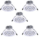 cheap LED Recessed Lights-5pcs 7 W LED Ceilling Light Recessed Downlight LED Spotlight 7 LED Beads High Power LED Decorative Warm White / Cold White 85-265 V / RoHS / 90