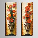 preiswerte Kunstdrucke-Blumenmuster/Botanisch Klassisch, Zwei Panele Segeltuch Vertikal Druck Wand Dekoration Haus Dekoration