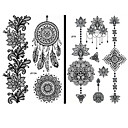 cheap Temporary Tattoos-15 pcs Tattoo Stickers Temporary Tattoos Totem Series / Flower Series Waterproof / Lace / Non Toxic Body Arts Face / Hand / Arm / Pattern / Lower Back