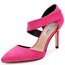 baratos Acessórios Xbox 360-Mulheres Sapatos Tecido Primavera / Verão Salto Agulha Velcro Azul Escuro / Fúcsia / Khaki / Festas & Noite / Social / Festas & Noite