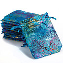 hesapli Depolama ve Düzenleme-10 adet renkli İpli mercan çiçek şeker hediye çanta takı çantası 9x12 cm