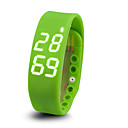 baratos Pulseiras Smart & Monitores Fitness-Monitor de Atividade / Pulseira inteligente Apresentação da Temperatura / Controlador de Tempo / Impermeável Sensor de Frequência Cardíaca / Sensor de Dedo Vermelho / Verde / Azul / Pedômetros