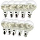 baratos Lâmpadas de LED-YouOKLight 450 lm E26/E27 Lâmpada Redonda LED B 9 leds SMD 5630 Decorativa Branco Quente AC 220-240V