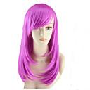 billige Kostymeparykk-Syntetiske parykker Rett Asymmetrisk frisyre Syntetisk hår Naturlig hårlinje Rød Parykk Dame Medium Lengde / Mellemlængde Lokkløs Rose