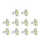 abordables Luces LED de 2 Pin-3W GU4(MR11) Focos LED MR11 12 leds SMD 5730 Blanco Cálido Blanco Fresco 250lm 3500/6000K DC 12V