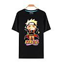 tanie Bluzy Anime-Zainspirowany przez Naruto Naruto Uzumaki Anime Kostiumy cosplay T-shirt Cosplay Nadruk Krótki rękaw Top Na Męskie