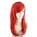 billige Kostymeparykk-Syntetiske parykker Dame Bølget Rød Asymmetrisk frisyre Syntetisk hår Naturlig hårlinje Rød Parykk Medium Lengde / Lang Lokkløs Rød
