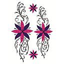 זול sleeve tattoos-אנימציה / קעקוע מדבקה פנים / גוף / ידיים קעקועים זמניים 2 pcs סדרת Totem / סדרת בעלי חיים / סדרות פרחים אמנות גוף