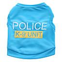 ieftine Îmbrăcăminte Câini-Pisici Câine Tricou Îmbrăcăminte Câini Floral / Botanic Negru Albastru Roz Terilenă Costume Pentru animale de companie Bărbați Pentru