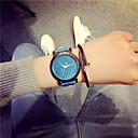 preiswerte Modische Uhren-Damen Armbanduhr Quartz Schlussverkauf Leder Band Analog Charme Freizeit Modisch Schwarz / Blau / Grün - Fuchsia Blau Leicht Grün