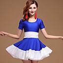 preiswerte Tanzzubehör-Aufführung Austattungen Damen Leistung Elasthan Gerafft Kurze Ärmel Normal Kleid