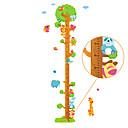 billige Vægklistermærker-Højde klistermærker - Animal Wall Stickers Landskab / Dyr Stue / Soveværelse / Læseværelse / Kontor / Kan fjernes