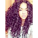 olcso Emberi hajból készült parókák-Emberi haj Csipke / Csipke eleje Paróka Kinky Curly Paróka 130% Természetes hajszálvonal / Afro-amerikai paróka / 100% kézi csomózású Női Rövid / Közepes / Hosszú Emberi hajból készült parókák
