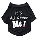cheap Dog Clothes-Cat Dog Shirt / T-Shirt Dog Clothes Letter & Number Black Cotton Costume For Spring &  Fall Summer Men's Women's Fashion