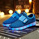 preiswerte Jungenschuhe-Mädchen Schuhe maßgeschneiderte Werkstoffe Frühling Komfort / Leuchtende LED-Schuhe Sneakers Klett / LED für Gelb / Grün / Orange