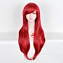 cheap Synthetic Capless Wigs-Synthetic Wig Straight Synthetic Hair Wig Women's Long Capless Red New Purple