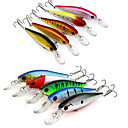 cheap Fishing Lures & Flies-10 pcs Fishing Lures Hard Bait / Minnow Hard Plastic Sea Fishing / Bait Casting / Lure Fishing / General Fishing / Trolling & Boat Fishing