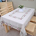 cheap Table Cloths-Linen Table Cloth Floral / Embroidered Table Decorations 1 pcs
